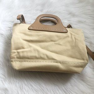 FOSSIL Straw Canvas Stitched Crossbody Bag